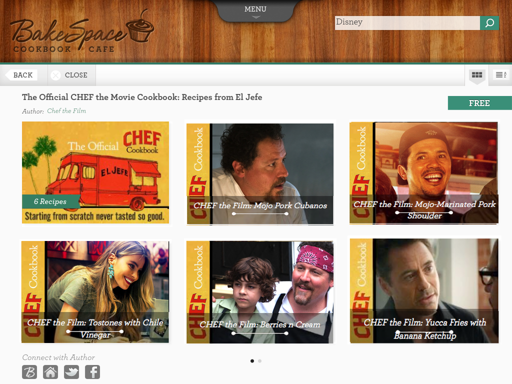CHEF Cookbook in the Cookbook Cafe App