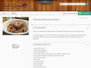 christmas oatmeal